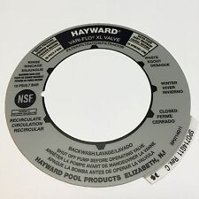 Hayward SPX0714G Valve Label Replacement for SP0714T Valve