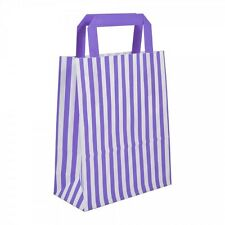 Candy Stripe Brown White Paper Sos Carrier Bags Party Gift Wedding Hen Night