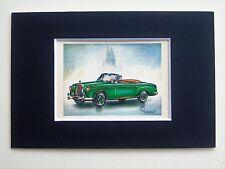 1957 MERCEDES BENZ 220 S Cabriolet-monté couleur vintage voiture automobile Imprimer