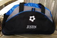 Personalized Kids Soccer Ball Duffel Bag School Team Sports Duffle Monogram
