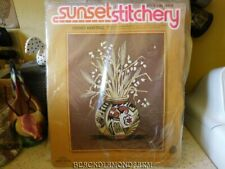 SUNSET INDIAN HERITAGE CREWEL KIT * UNOPENED *