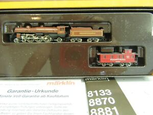 Z - Marklin 8882 Pacific 4-6-2 Pennsylvania Steam Loco/Tender + Caboose
