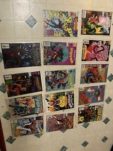 Comic Books Marvel Spider-Man Lot 14 Total, Comic Book Store Estate.
