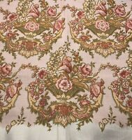 Vintage David & Dash by Simone Poetry Pink Floral Woven Fabric Remnant 49x60