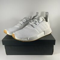adidas Men's NMD_R1 Cloud White/Gum BRAND NEW White Sneakers D96635 Multi size