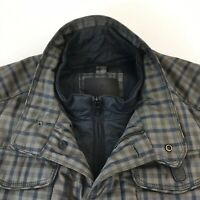 Massimo Dutti Mens Dark Grey Field Biker Jacket Classic Fit Size L Large 40