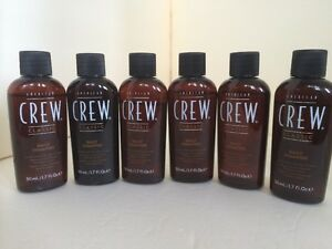 AMERICAN CREW Classic DAILY SHAMPOO Normal To Oily Hair 6 PACK OF BOTTLES