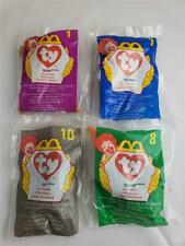= Lot of 4 Mc Donald's Happy Meal Ty Toys Zip Scoop Mel Doby 1998 New Sealed