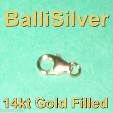 14kt GOLD FILLED 9mm Pear Shape Trigger LOBSTER CLAW CLASP with Open Jump Ring