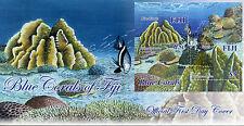 Fiji 2015 FDC Blue Corals 2v S/S Cover Marine Fish Reefs Heliopora coerulea
