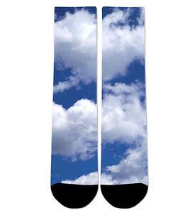 Custom Clouds Crew Socks NEW