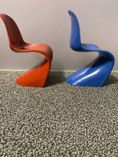 New ListingBarbie Mod Side Chairs - Blue and Red - Display or Diorama