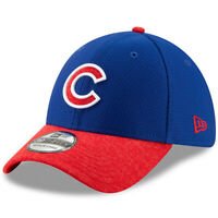NEW ERA MLB Chicago Cubs 39THIRTY Popped Shadow 2 Collection Hat Cap Blue Red