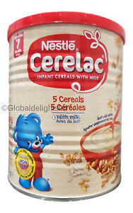 Nestle Cerelac 5 Cereals with Milk (400g) From 7 Months