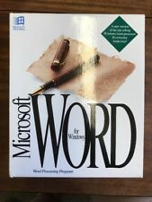 Vintage Microsoft Word for Windows Software Update Collectable 1991 In Box