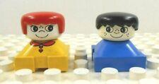 Lego Duplo Figure 2 Little Kids (Boy/Girl) White Face Vintage 1980's