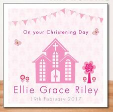 CHRISTENING CARD (PERSONALISED) Pink_BAPTISM