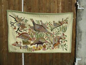 tapisserie mural decor de faisans et canards 97 x 158 cm