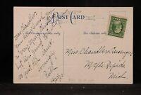 Michigan: Riley 1910 Christmas Postcard, DPO Clinton Co