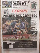 L'Equipe du 29/6/2002 -Coupe du monde de football Brésil-Rugby Australie-France