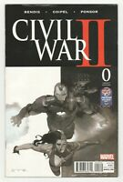 Civil War II #0 PX Previews Sketch Variant (Marvel 2016) RARE Esad Ribic Cover