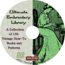 Ultimate Embroidery and Sewing Library Collection { 170 Vintage Books } on DVD