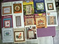 New ListingLot of 13 Cross Stitch Charts-Heart Strings-Just Nan-June Grigg-New