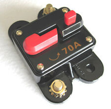 12 Volt Car Audio 70 AMP Circuit Breaker with Reset up to 700 watts stereo