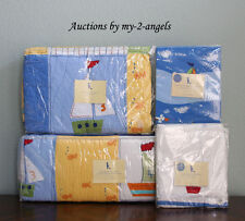 NEW Pottery Barn Kids BABY BOATS Sailboat Nautical Crib Quilt Baby Bedding Set!