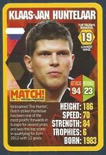 TOP TRUMPS-MATCH-WORLD FOOTBALL STARS 2013/14-SCHALKE-HOLLAND-KLAAS-J HUNTELAAR