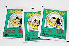 Americana Sindbad De 1978, 3 X Sac en Papier Paquet Bustina Pochette Rare ! Rare