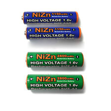 2 AAA + 2 AA 2A 3A 1150mWh 2800mWh NiZn 1.6V Rechargeable battery UL