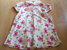 Size 12 Months Carters Butterfly Floral Summer Dress & Bloomers Pink & White New