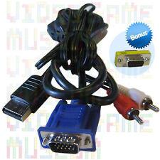 NEW VGA CABLE +Bonus Converter to Sega Dreamcast High Definition Monitor Adapter
