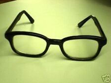 """Attitudes"" Biker Sunglasses - Black Frame/Clear"