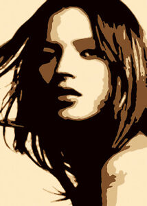 0248 Kate Moss Canvas Modern Wall Art Print Model Icon