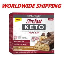 Slim Fast Keto Meal Replacement Bars Peanut Butter Chocolate 5 Ct WORLD SHIPPING