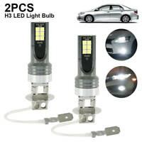 1 Pair H3 200W 12000LM LED Car Headlight Conversion Globes Bulbs Beam 6000K Hot