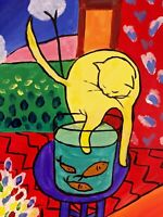 Henri Matisse - Cat With Red Fish Superb painting Art A0,A1,A2,A3,A4 poster