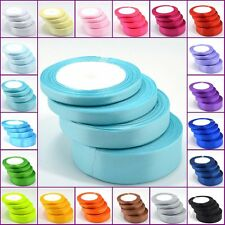 25Yards Satin Ribbons 6 10 15 25MM Wide Multi Colors for Wedding Gift Party Deco