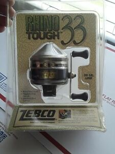 Vintage Zebco Rhino Tough 33 Spincast Reel 10lb Line New Old Stock New 1991