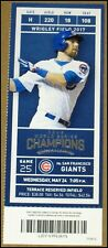 5/24/2017 Chicago Cubs San Francisco Giants Ticket Ben Zobrist Anthony Rizzo 2HR
