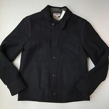 J Crew $228 Mens Wallace and Barnes Wool Deck Jacket Large a9714 Navy