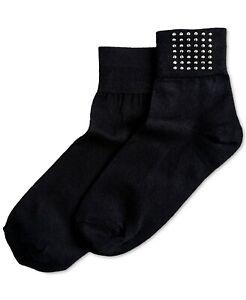 Hue Studded Shortie Socks Black One Size