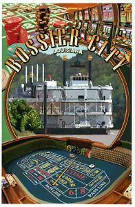 Bossier City Louisiana Montage, River Boat Casino, Craps Gambling etc - Postcard