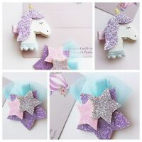 Crafts Elastic Girls Barrettes Kids Headwear Unicorn Hairpin Infant Ribbons