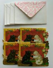 4 PUNCH STUDIO CARDS/ ENVELOPES 1 Design - COZY CATS