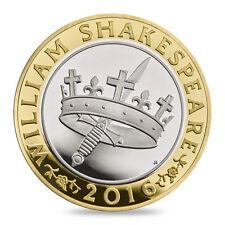 Que No Ha Circulado 2016 William Shakespeare Histories 2 Libras Moneda Royal
