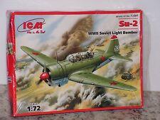 ICM #72081 1/72 WWII  SU-2 SOVIET LIGHT BOMBER OPEN/FSI