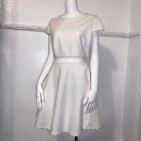 NWT Lulus Remarkable White Ivory Dress 1-Piece Look Sheer Midriff XL